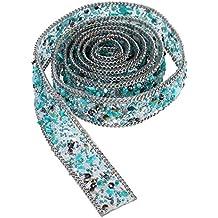 ROSENICE Diamantes de Imitación de Cristal y Apliques de Perlas con Cuentas del Ajuste del Cordón de la Cinta Bling de Costura en el Ajuste para el Cinturón ...
