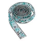 ULTNICE Strass Borte Band zum nähen 1 Meter für DIY Kleid Hüte Taschen Verzierungen (Hellgrün)