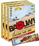 BAOUW Organic Nutrition -PATATE DOUCE CAJOU CURRY- Barres nutritionnelles & énergétiques aux légumes et sel de Guérande-100% BIO pour le sport ou un encas sain -vegan-sans gluten-crues-12 barres x30g
