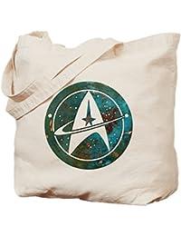 CafePress - Star Trek Logo Steam Punk Copper - Natural Canvas Tote Bag, Cloth Shopping Bag