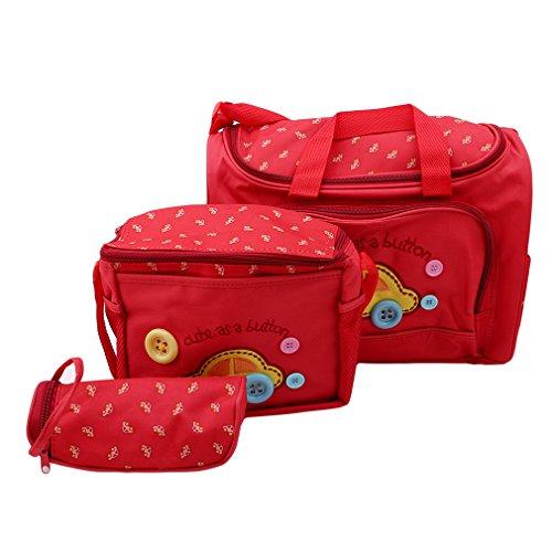HYhy Mummy Bag Baby Care Stickerei Wickelset Handtasche Reise Wickeltasche Wasserdicht Kinderwagen Tasche As the description Big Red Car