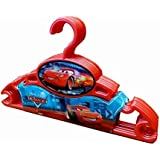 Baby Bucket Plastic CAR Clothes Hanger for Wardrobe (32 ,Red)-Set of 6