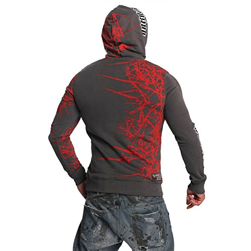 Yakuza Original Herren Thorns Hoodie Kapuzenpullover Dark Shadow