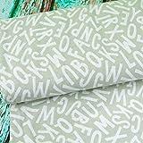 Emily&Joe's fabrics Jersey Buchstaben ABC Alphabet Schule