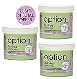 Bienenkorb 3 X enthaarende Tea Tree Creme Wachs für Gesicht Körper Bein Bikini Wachs Haarentfernung 425g jede spezielle bieten 3 Pack-CODE: OPT5737