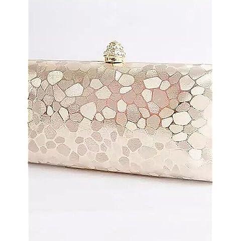 Da Wu Jia Ladies borsetta di alta qualità di lusso moda donna modello di pietra della frizione della sera borsa borse , argento