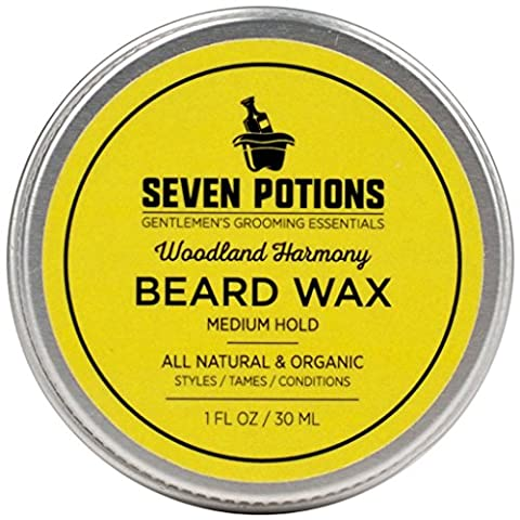 Beard Wax 30 ml. All Natural, Organic Beard Styling Wax For Medium Hold. Shape And Nourish Your Moustache and Beard While Looking Natural. Doesn't Make The Beard Stiff (Woodland