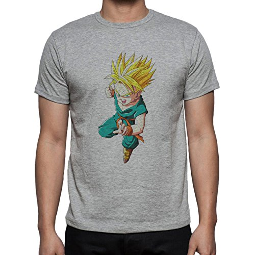 Dragon Ball Super Trunks Saiyan Charge Ready Fight Herren T-Shirt Grau