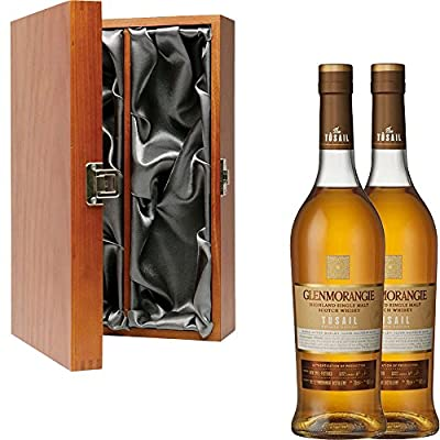2 x Glenmorangie Tusail Private Edition Single Malt Scotch Whisky in Elm Wood Gift Box With Handcrafted Gifts2Drink Tag