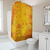 O1FHW-8 Duschvorhang Persönlichkeit Muster Color Snowflake Drucken Ungiftig Badewannenvorhang Neujahrsgeschenk Stilvielfalt für Duschen - Magical White 120x200cm