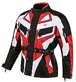 Bangla 1535 Kinder Motorradjacke Roller Motorrad Textil Cordura 600 Rot