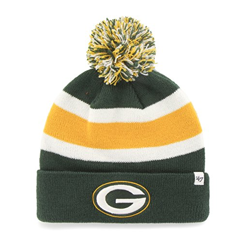 47 Brand Breakaway Fashion Cuff Beanie POM - NFL Cuffed Winter Strick Toque Cap - grün - Einheitsgröße - Pom Pom Cuffed Beanie