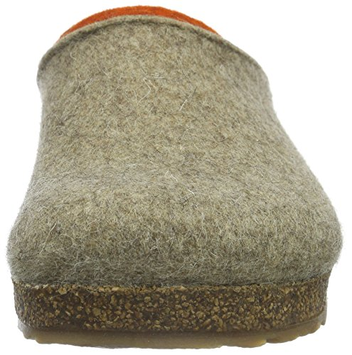 Haflinger Kris, Ciabatte Unisex – Adulto Beige (Beige (Torf 550))