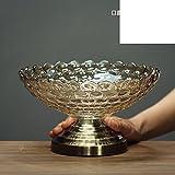 LIUYU Europäische Kreative Glas Obst Schale / Home Decorations Ornamente / Couchtisch Fruit-H,C