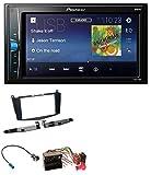 caraudio24 Pioneer MVH-A100V 2DIN MP3 USB Aux Autoradio für Mercedes C-Klasse 07-11 Ohne Tasten