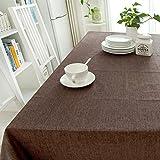 William 337 Rechteckige Tischdecke aus Einfarbiger Baumwolle - Baumwolle Rechteckige Tischdecke aus Baumwolle/Leinen (rechteckige Platte - 130cm) (Farbe : F, größe : Rectangular -130 * 350cm)
