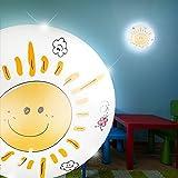 MIA Light Sonne Decken Leuchte Ø350mm/Gelb/Lampe Deckenlampe Deckenleuchte Kinderlampe Kinderleuchte Kinderzimmer Kinderzimmerbeleuchtung Kinderzimmerlampe Kinderzimmerleuchte