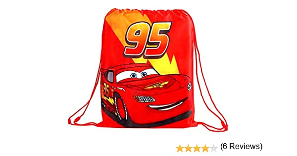 Disney Cars Sac de gym avec cordon de serrage pour enfant Motif Flash McQueen