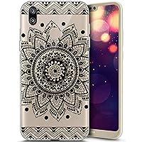 Handytasche Für Huawei P20, Huawei P20 Hülle Silikon, Uposao Huawei P20 Hülle Durchsichtig - Transparent Bumper Handyhülle Weiche Silikon Handyhülle Schutzhülle für Huawei P20, Schön Henna Mandala Bl