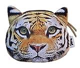 Weicher Geldbeutel / Aufbewahrungstasche / Münzbörse mit coolem Großkatzenmotiv (Leopard, Löwe, Tiger) im Animal Print Design (Reißverschluss) (Tiger)