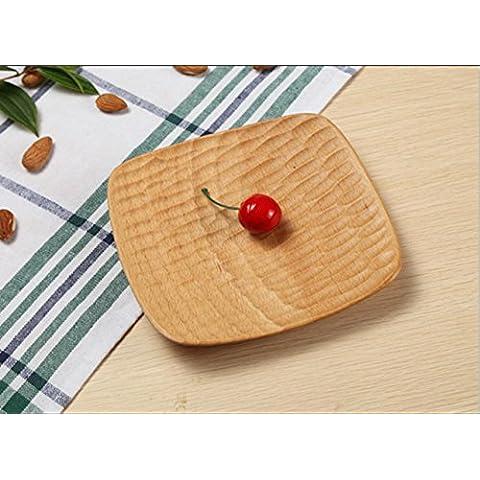 Gusci di legno faggio quadrato piatto legno piatto dessert
