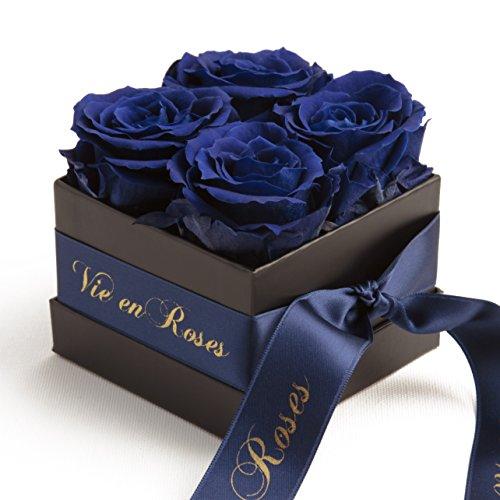 Infinity Rosenbox Poesie en Roses konservierte Rosen haltbar 3 Jahre Flowerbox von ROSEMARIE SCHULZ Heidelberg (Blau) Infinity Blume