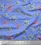 Best Nautica Quilts - Soimoi Blu Jersey di Cotone Tessuto Faro Review