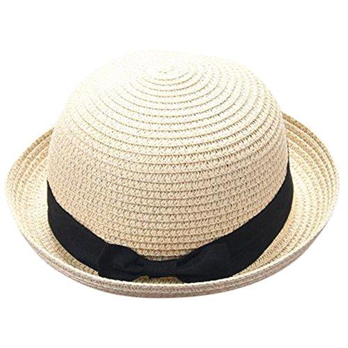 TUDUZ Strohhüte Kinder Erwachsene Strand Sonne Hut Sommer Reise Junge Mädchen Hut Kappe Schutz Sonne Lovely Sonnenhut…