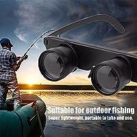 Jiayuane 3x28 Glasses Style Telescope Magnifier Binocular Fishing Optics Binoculars Hiking Eyewear Magnifier Black