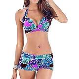 Bikini Sexy Para Mujer Espesar Reunir Sujetador Alto Bikini Estampado De Bikini De Playa Con Estampado De Cintura Alta ~ Coconano