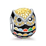 NinaQueen Owl 925 Sterling Silver Bead for women fit charms bracelet Christmas Gifts Birthday gifts san valentines Mothers Day Anniversary Wedding Gift For Mother Wife Daughter