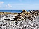 Glücksvilla Bretagne - Mon Amour 26 - Exklusives Künstlermotiv, XXL Bild/Wandbild, Größe: 120 x 90 cm Quer-Format, Digital-Druck auf Acrylglas 5 mm. Meer Küste Felsen Frankreich Bild groß