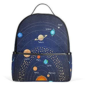 COOSUN Educational Astronomy Planet School Backpack Lightweight Canvas Book Bag for boys girls Kids