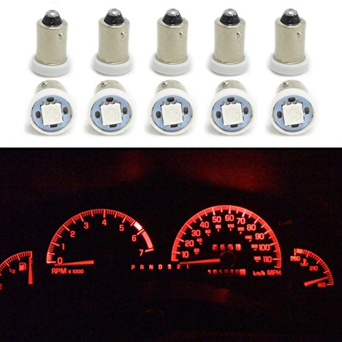 Preisvergleich Produktbild Hrph 10pcs BA9S 5050 SMD Auto-LED-Dashboard Light Gauge Cluster-Birnen H6W H21W Q65B T4W