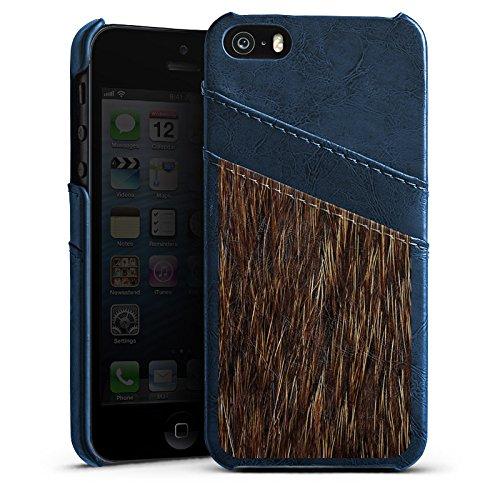 Apple iPhone 6 Housse Étui Silicone Coque Protection Fourrure Animal Ours Étui en cuir bleu marine