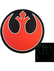 Glow Dark Rebel Alliance Star Wars PVC Rubber 3D GITD Red Rogue Squadron Fastener Patch