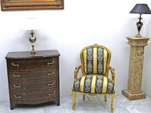 LouisXV Barock Sessel Antik Stil Rokoko AlSe0307 antik Stil Massivholz. Replizierte Antiquitäten...