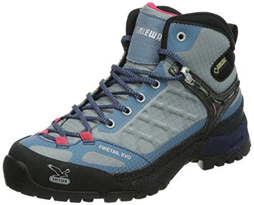 SALEWA - WS Firetail Evo Mid GTX Noir 15, Chaussures de montante femme Gris (Moon/iceland 0483)