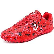Unisex Niños Zapatos de Fútbol AG Spike Profesión Atletismo Botas de fútbol Antideslizante Respirable Aire Libre