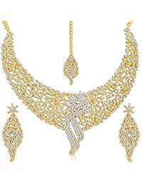 Sukkhi Jewellery Choker Necklace for Women (Golden)(2103NADM2150-AMZ)