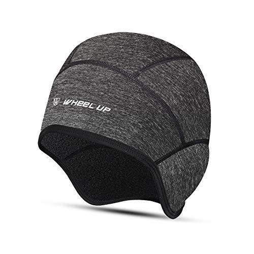 Wankd Thermal Cycling Cap, Winddichte Fahrradhelmkappe, Winter-Fahrrad-Fleece-Mütze Biking Skull Beanie-Laufmütze, Dehnbare Kopfbedeckung mit Ohrenschützern Perfekt...