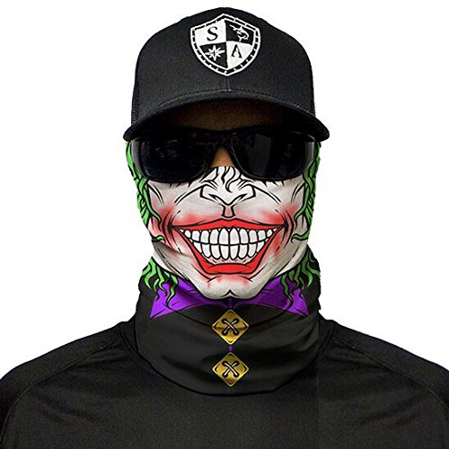 ld Sturmhaube Multiunktionstuch Maske Fishing Totenkopf Schal (Jester Clown) (Jester Halloween-maske)