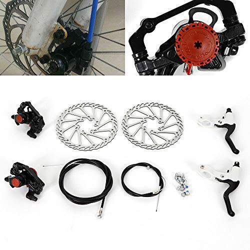 DiLiBee Wasserdicht Bremsscheibe Fahrrad Scheibenbremse Bremsen Set Scheibe Vorne Hinten (Scheibenbremsen Für Mountainbike)