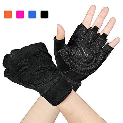 Arteesol Fitness Handschuhe, Herren Damen Training Sport Handschuhe für Grip Gewichtheben Training Fitness Bodybuilding Training und Outdoor Sports mit Adjustable Handgelenkstütze Palm Protection