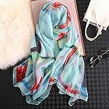 ALPNXZ Bufanda Deportiva Dama Hijabs Bufandas de Seda para Mujer Leopardo Gran tamaño mantones Femeninos Suaves y Finas estolas de Playa foulards