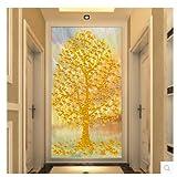 HUANGYAHUI Moderno e minimalista di sfondo non intrecciato, grande 3D Stereo ingresso carta da parati, murales, pitture decorative, corridoi, Fortune Tree-400cmX280cm