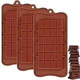 Cuitan Silikon Schokoladenform für Schokoladen Herstellen, DIY Pralinenformen, 3 Stück