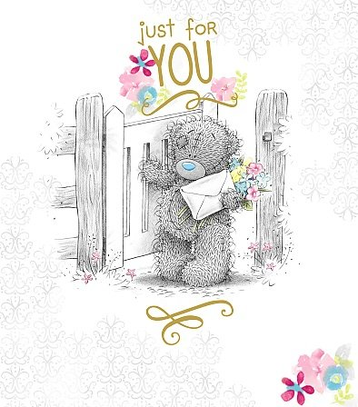Me to You Tatty Teddy Grußkarte-Bär Walking durch Gate