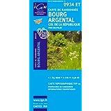 Top25 2934ET ~ Bourg-Argental carte de randonnée avec une règle graduée gratuite
