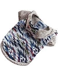 Ropa Perro Invierno Mascota Perro Perrito Sudadera con Capucha suéter Fleece Ropa de suéter Caliente
